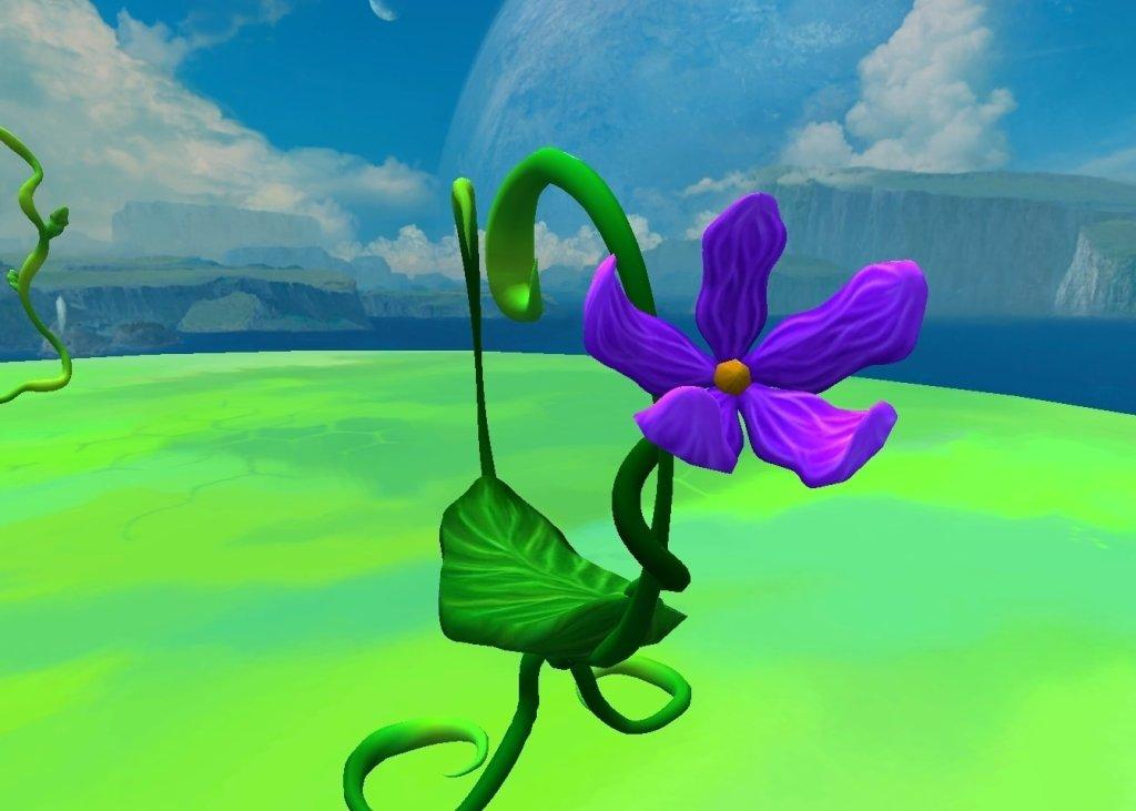 Flower closeup in AltspaceVR